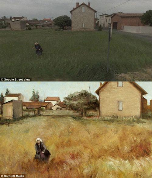 Использование Google Street View для написания картин