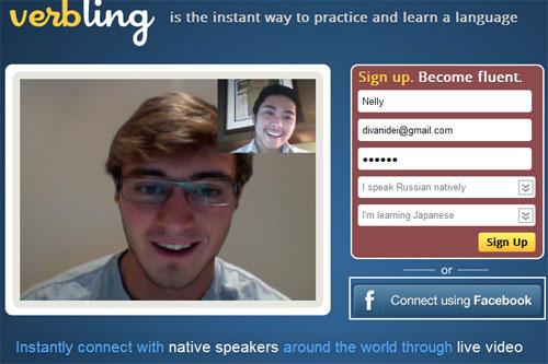Регистрация на verbling.com