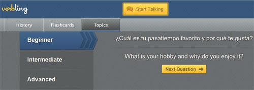Основа для языковой практики на verbling.com