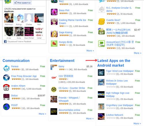 Где искать свежие приложения для Android Market