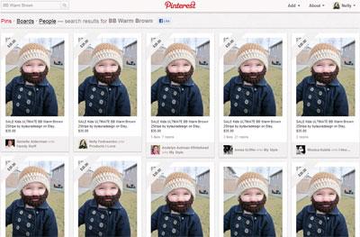 Прикольная шапочка с бородой на Pinterest.com