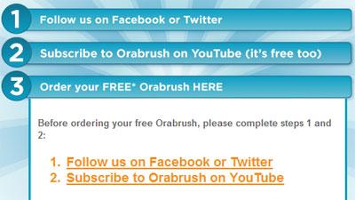 Подписка на канал YouTube в обмен на бесплатную щетку