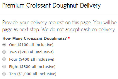 Пончики cronut за 100$