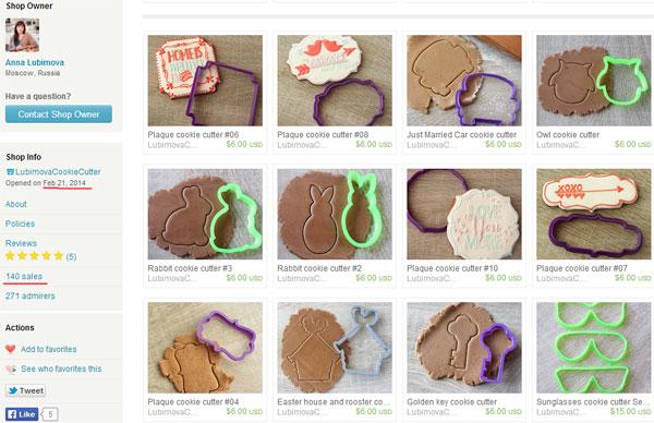 Формочки для печенья, сделанные на 3d принтере