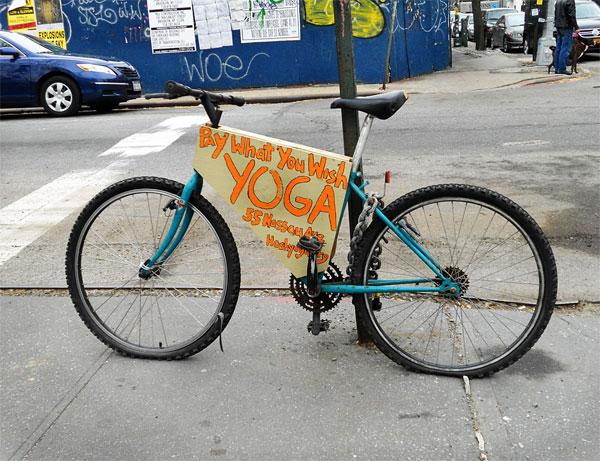 Новая реклама на велосипеде