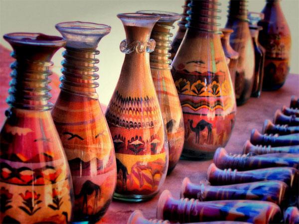 Цветной песок в бутылке своими руками 361