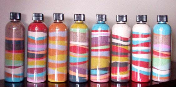 Рисунки из песка в бутылке