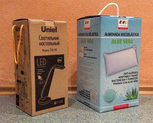 Упаковка, похожая на сумочку, только картонная