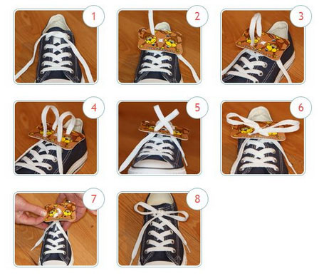 Придумать устройство для облегчения этого процесса завязывания шнурков