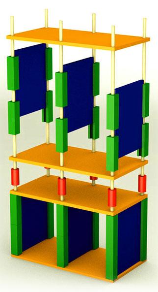 Мебельный конструктор - принцип сборки