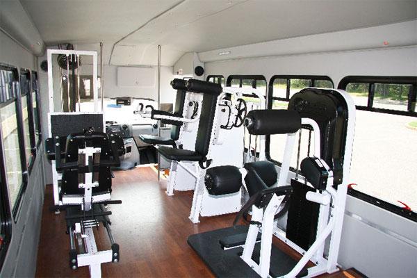 Фитнес внутри автобуса