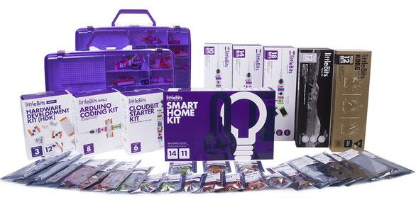 Электронный конструктор продается наборами и модулями