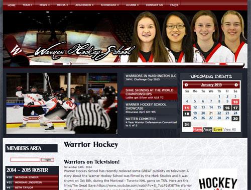 Женская хоккейная школа в канадской деревне