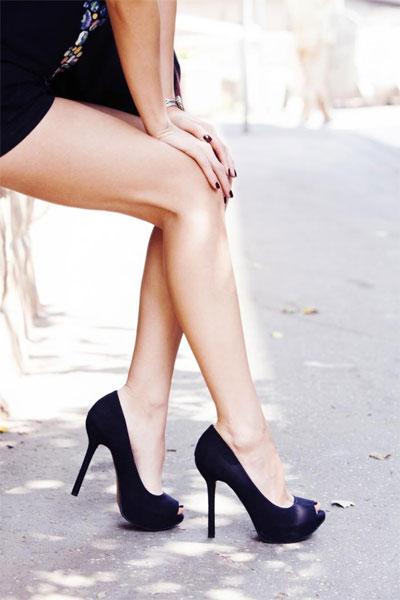 От высоких каблуков у женщин болят ноги