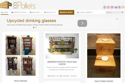 Сайт, который зарабатывает на мебели из поддонов в Интернете
