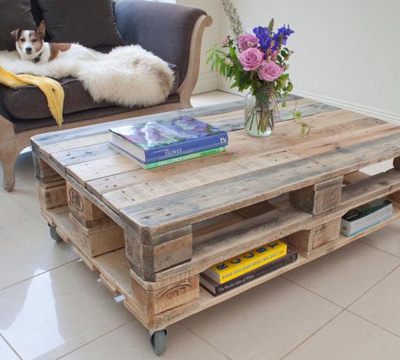 Кофейный или журнальный столик из паллет