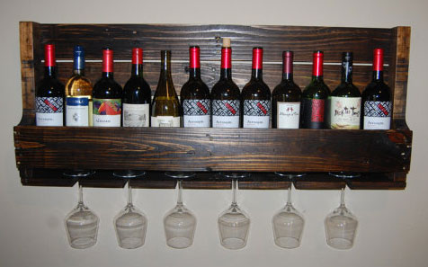 Полка для вина из поддона