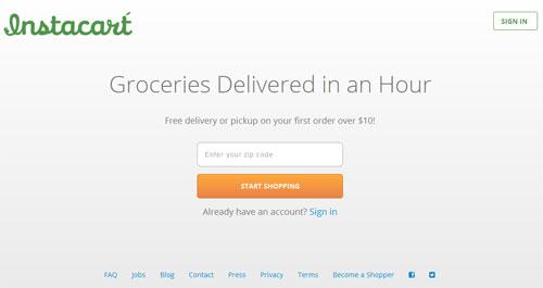 Instacart - доставка продуктов питания в течение часа