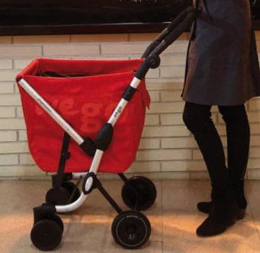 Прототип будущей прогулочной сумки-тележки