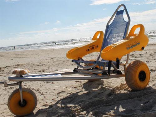 Инвалидная коляска для прогулок по пляжу