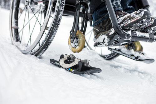 Лыжи для инвалидной коляски