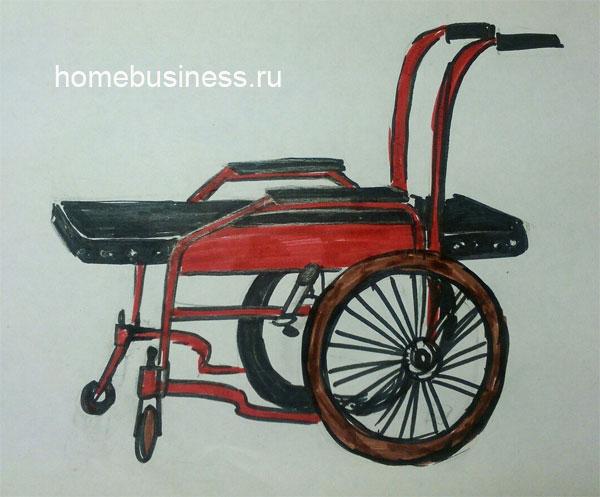 Домашняя каталка для инвалидов