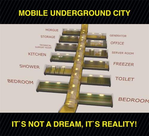 Подземный город, который можно построить из отдельных модулей