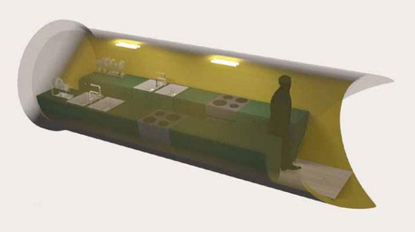 Подземная модульная кухня