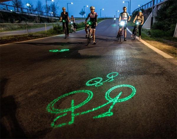 Популярность лазерного фонаря у велосипедистов