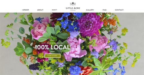 Сайт, продающий полевые цветы по подписке
