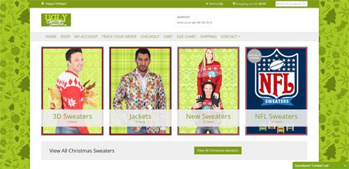 Сайт, продающий уродливые рождественские свитера