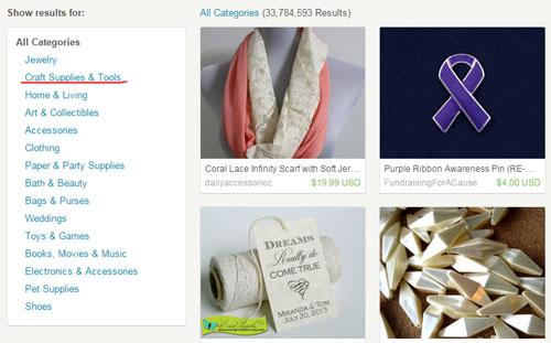 Популярность материалов для рукоделия на Etsy.com