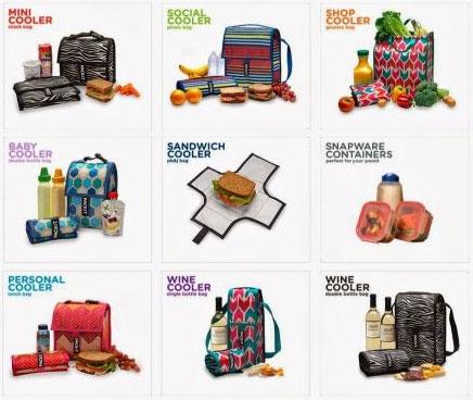 Ассортимент сумок-холодильников Packit