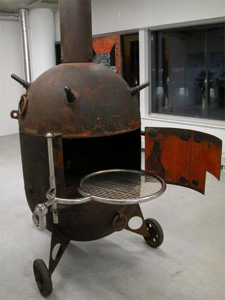 Печь гриль из мины