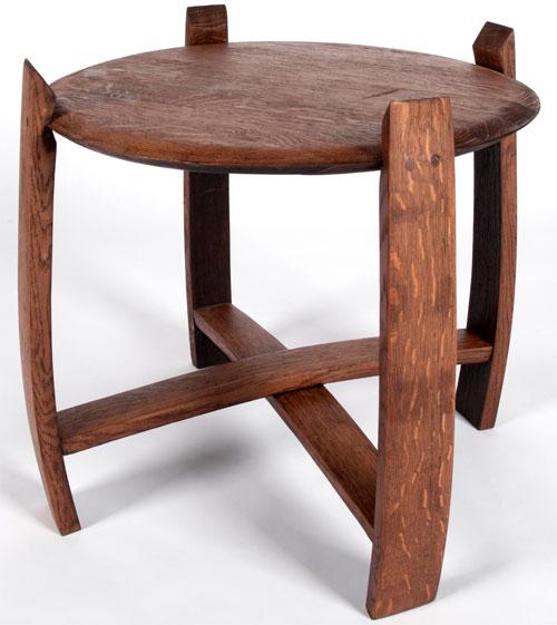 Стол из бочки