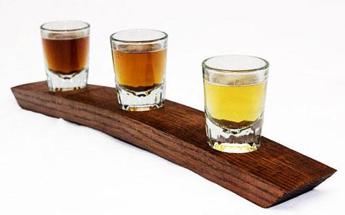 Подставка для стаканов из бочки
