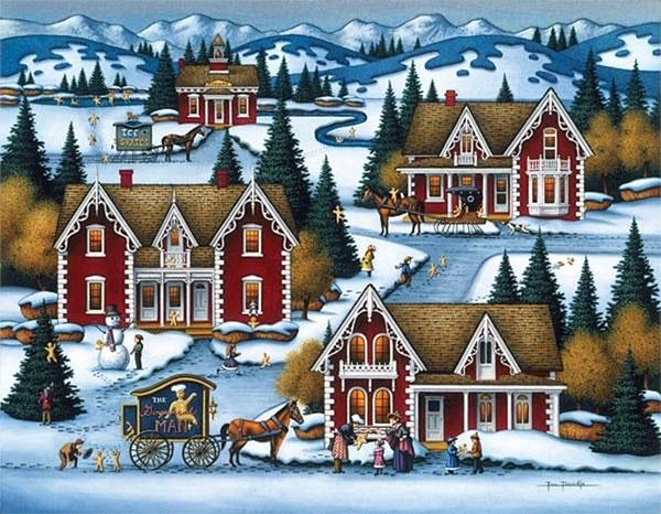 Картина о зимней сказке