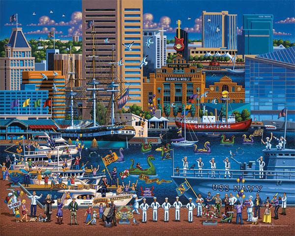 Картина про морской порт