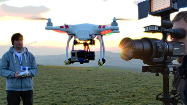 Как ведется съемка дроном