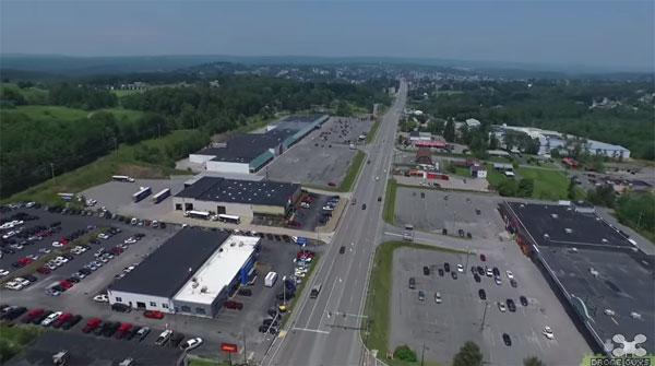 Съемка магистрали города