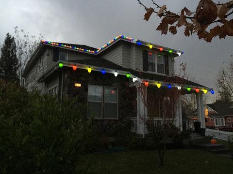 Большие новогодние фонарики