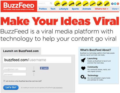 Любой человек может зарегистрироваться на buzzfeed.com
