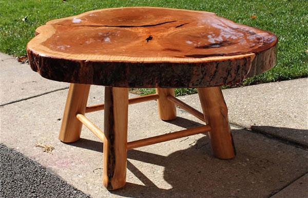 Стол из слэба дерева