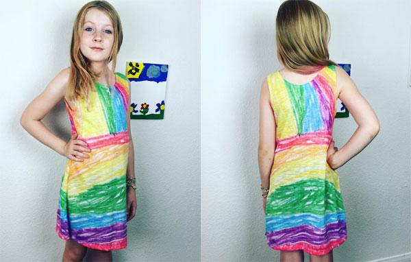 Платья по рисункам девочек