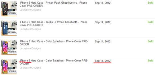 Первые продажи чехлов для iphone 5