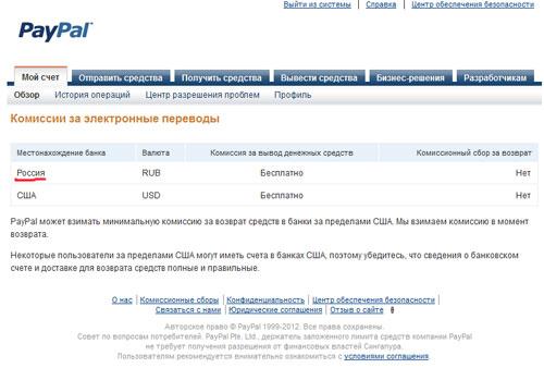 Вывод денег с PayPal в российский банк?