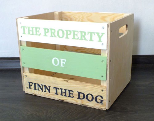 Собачий ящик для игрушек
