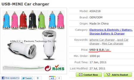 Цена зарядного устройства при покупке оптом