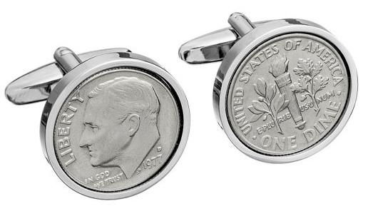Запонки из монет