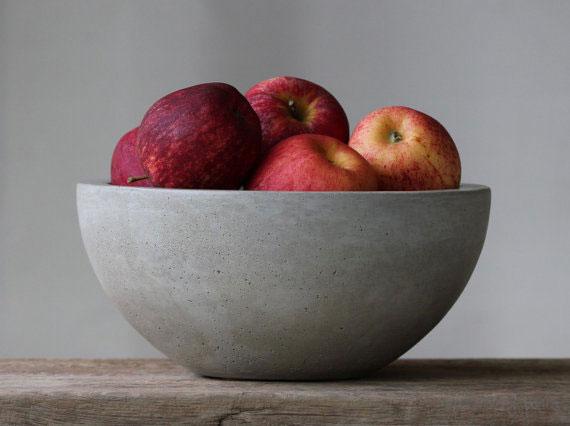 Миска для фруктов из бетона
